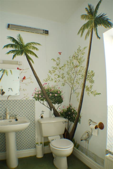 bathroom wall murals busy bathroom mural jess arthur mural artist