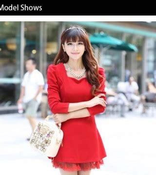 Longdress Aulona Dress Wanita Dress Natal 2 mini dress merah natal terbaru model terbaru jual murah import kerja