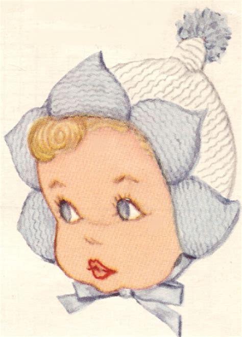 Promo Kupluk Baby Pixie Hat vintage knitting pattern to make baby bonnet hat sacque