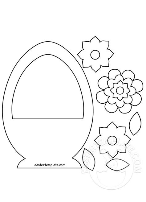 easter template egg basket template easter template