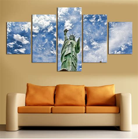 living room canvas 2016 new 5 pcs wall art abstract modern hd picture home
