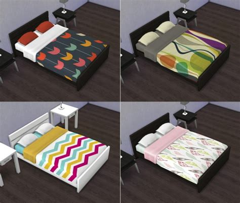 mod 4 sims bed double bed recolors overrides at saudade sims 187 sims 4 updates