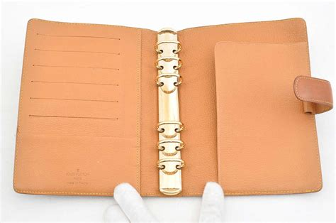 Auth Louis Vuitton Nomade Leather Agenda Mm Day Planner Cover Brown S1537 Ebay Cover Photo Template