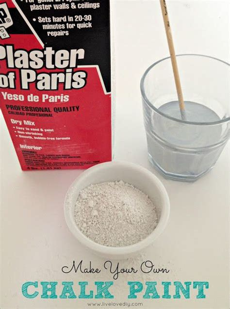 chalk paint recipe using plaster of chalk paint recipe 2 tablespoons plaster of 2 cups