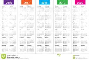 Kalender Tot 2018 Calendrier 2016 2017 2018 2019 2020 Illustration De
