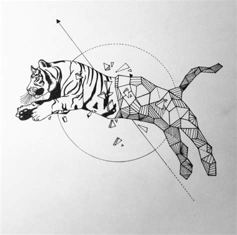 geometric tiger tattoo geometric tiger simple pencils inspired by