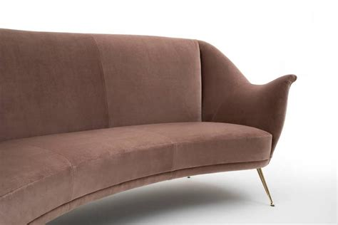 bergamo sofa curved sofa by isa bergamo at 1stdibs