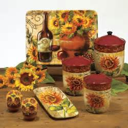 sunflower canisters for kitchen tuscan sunflower kitchen decor best home decoration