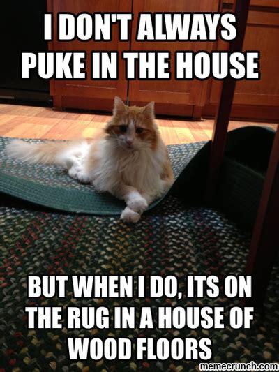 Puke Meme - cat puke
