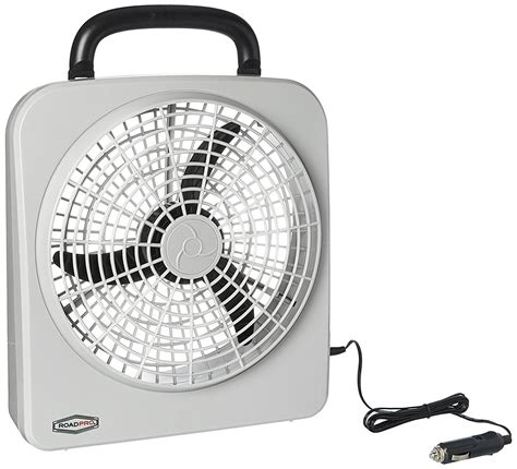 12 volt portable fan roadpro rp8000 174 12 volt battery 10 portable fan ebay