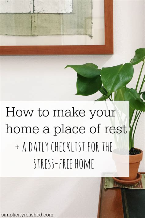 simple not stressful a daily guide to your home a