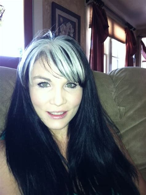 grey streaks in hair 81 best images about silver streak on pinterest