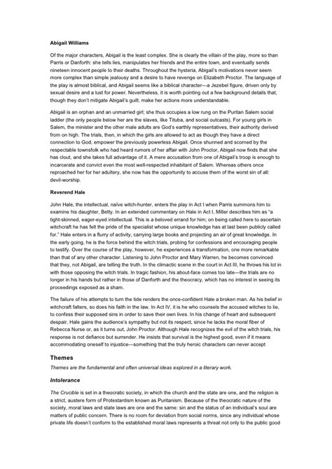The Crucible Essay by College Essays College Application Essays The Crucible Character Analysis Essay