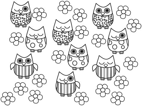 cute owl coloring pages to print print full size image free colouring sheets animal owl