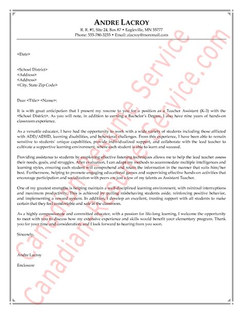 Teacher Aide Cover Letter – Letter of introduction education sample sample of