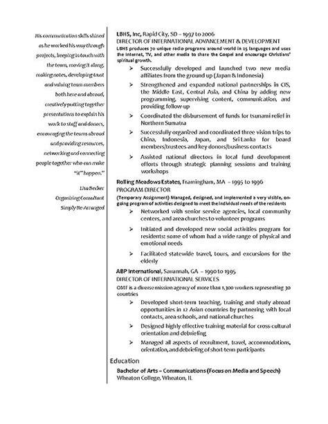 Sample Of International Resume – International Business: International Business Cover