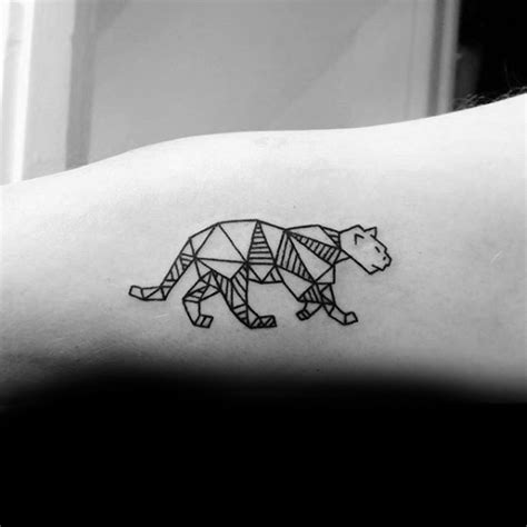 geometric jaguar tattoo 40 mountain lion tattoo designs for men animal ideas