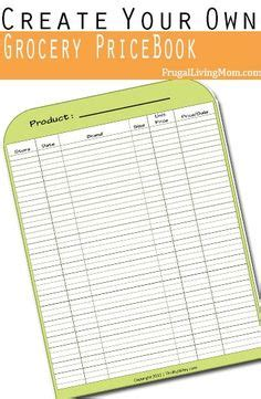 make your own printable shopping list menu plan monday july 8 13 grocery lists grocery list