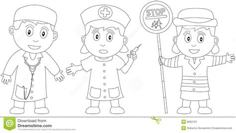 nurse practitioner coloring page coloring book for kids 19 stock vector illustration