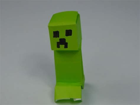 Minecraft Origami - how to fold a simple minecraft creeper 171 minecraft