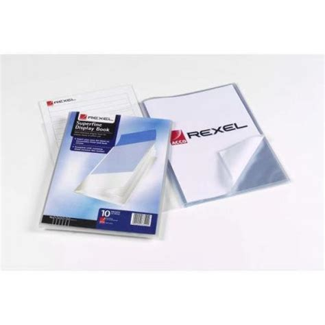 Display Book Garden 20 Sheet rexel superfine a4 display book with index sheet clear 10520