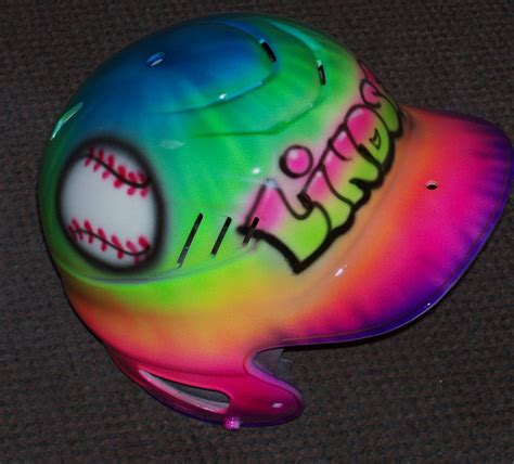 softball helmet design your own airbrush batting helmet tie dye baseball softball