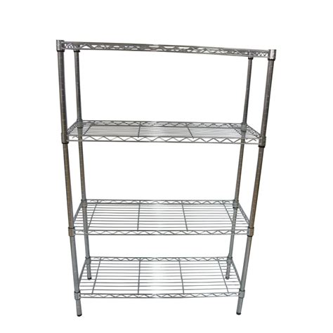 lowes metal shelves shop style selections 54 in h x 36 in w x 14 in d 4 tier steel freestanding shelving unit at
