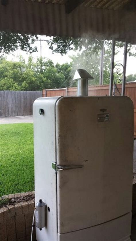 Printer Stand Ideas Turn An Old Fridge Into A Smoker Diy Projects For Everyone
