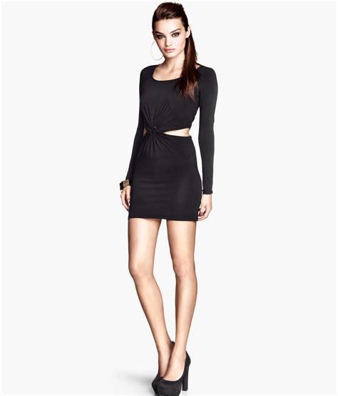Hm Dress h m jersey dress in black lyst