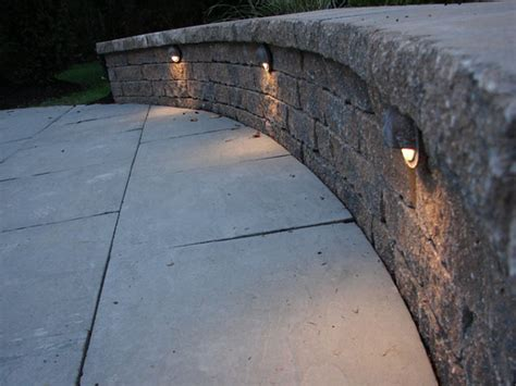 patio wall lights how to build a kidney shaped patio and sitting wall how