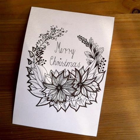 images of christmas cards to draw christmas card merry christmas greeting card hand drawn