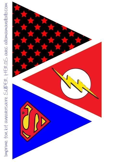 printable superman banner superheroes free printable bunting oh my fiesta for geeks