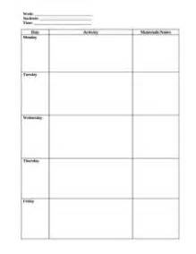 small lesson plan template weekly preschool lesson plan template pre k