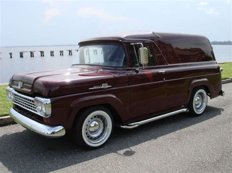 59 ford panel truck 1959 ford panel truck delivery pro touring streetrod