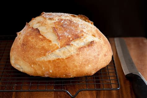 crusty rustic bread it s no knead cooking classy