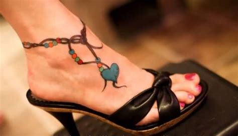 ankle bracelet chain tattoos and photo ideas page 3