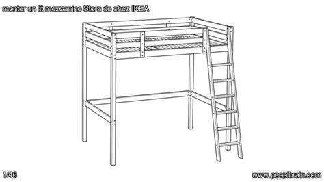 monter un bureau d 騁udes monter un lit mezzanine stora de chez ikea
