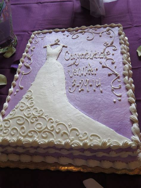 Bridal Shower Cakes by Purple Bridal Shower Cake Wedding Someday