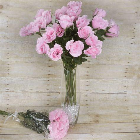 Unique Single Stem Flowers Wedding 48 Pcs Long Single Stem Rose Bundles Wedding Silk