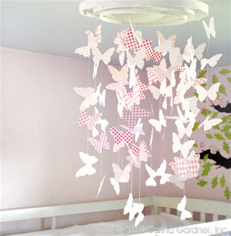 How To Make Paper Mobile - home dzine craft ideas paper butterfly mobile or chandelier