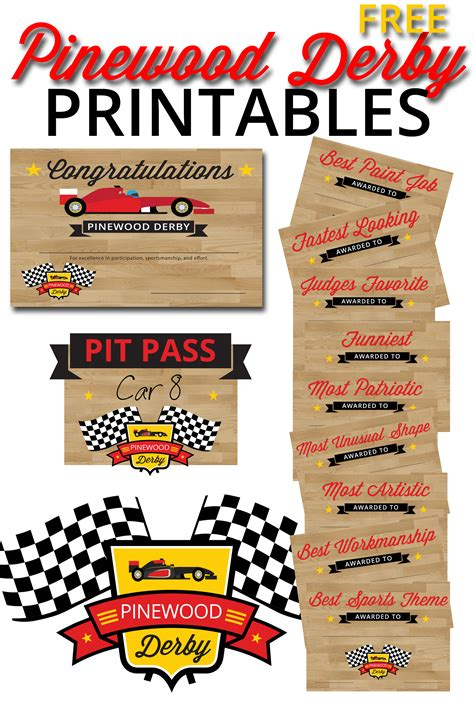 Pinewood Derby Printables | cub scout pinewood derby certificate car interior design