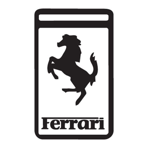 ferrari logo black and white ferrari logos in vector format eps ai cdr svg free