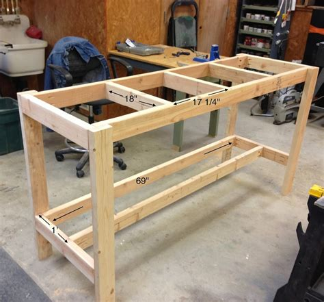 how to build a work table diy workbench wilker do s