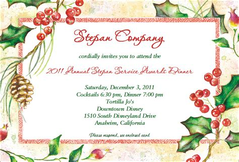 exle of christmas invitations to a party