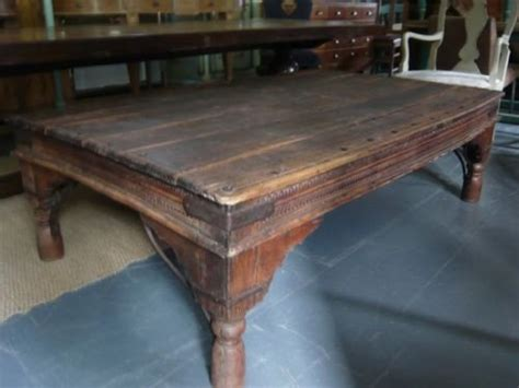 large indian hardwood coffee table 92737