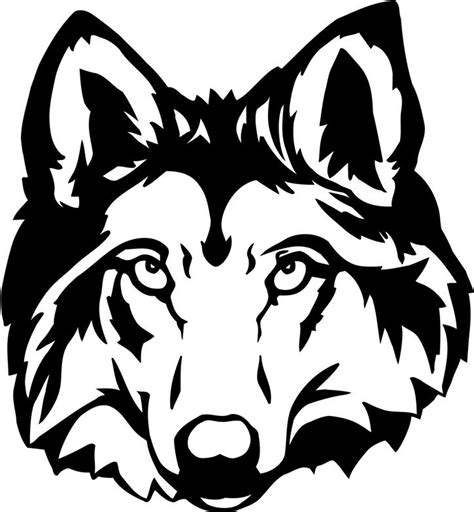 wolf face outline coloring home