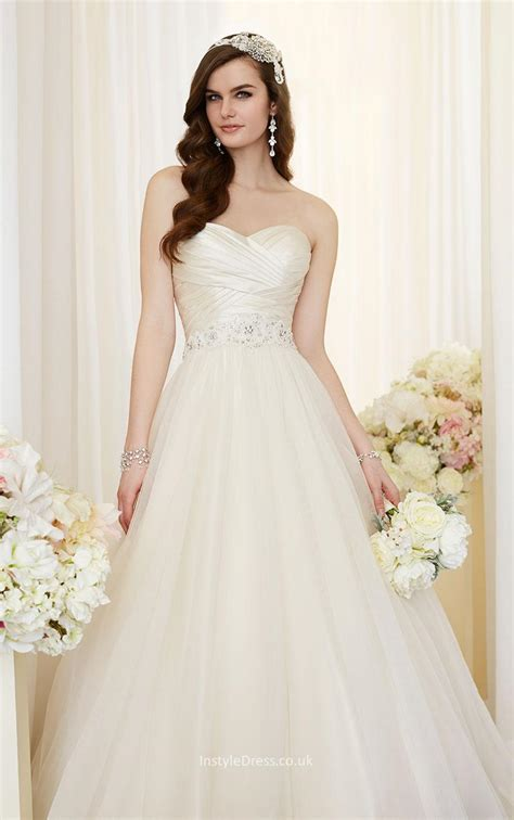 Wedding Up Dress by Lace Up Ruched Bodice Strapless Sweetheart Gown