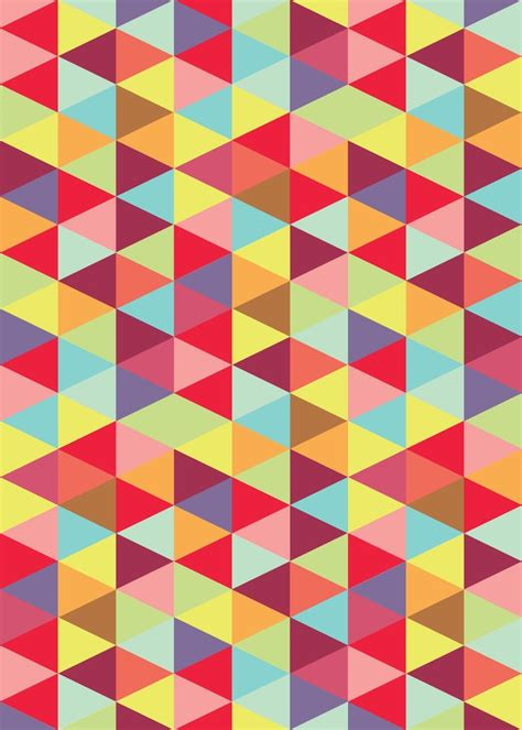 is pattern a rhythm fabric pattern and rhythm triangles and colors are