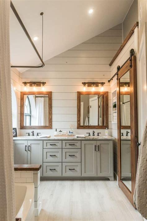 farmhouse master bathroom 50 rustic farmhouse master bathroom remodel ideas 23