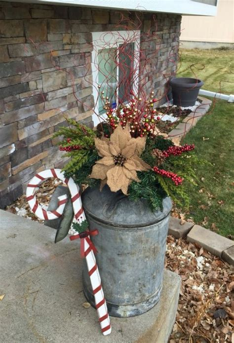 poinsettia on porch 15 creatively festive diy planters that bring a welcoming feel to your front porch diy crafts